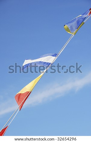 Marine flags in Annapolis, Maryland
