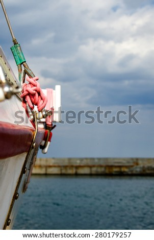 Marine Knot Detail On The Boat