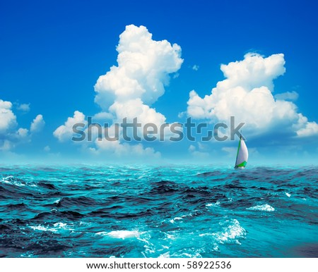 marine landscape - stock photo