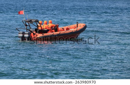 Marine rescue operation - stock photo