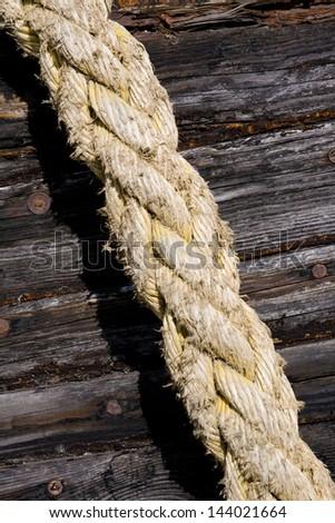 Marine rope - stock photo
