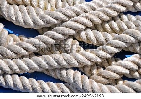 Marine rope closeup - stock photo