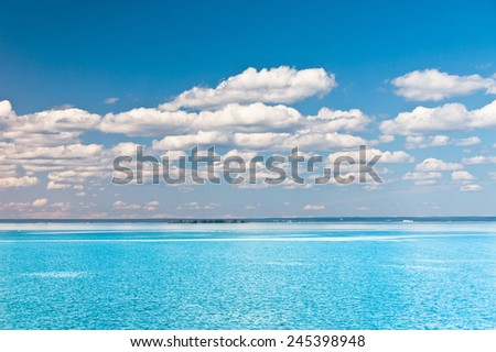 Marine Scene On a Sunny Day  - stock photo
