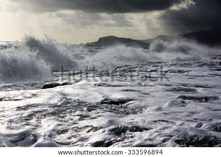Marine storm - stock photo