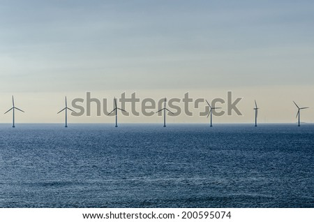 Marine wind farm in the coast of Copenhagen