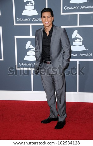 Mario Lopez  at the 52nd Annual Grammy Awards - Arrivals, Staples Center, Los Angeles, CA. 01-31-10 - stock photo