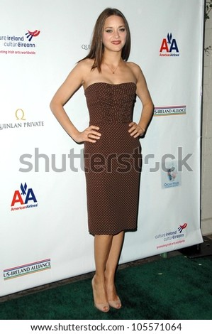 Marion Cotillard at the US-Ireland Alliance Pre Academy Awards Gala. Ebell Club, Los Angeles, CA. 02-19-09 - stock photo