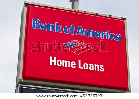 Marion, IN - Circa July 2016: Bank of America Home Loan Branch. Bank of America is a Banking and Financial Services Corporation I