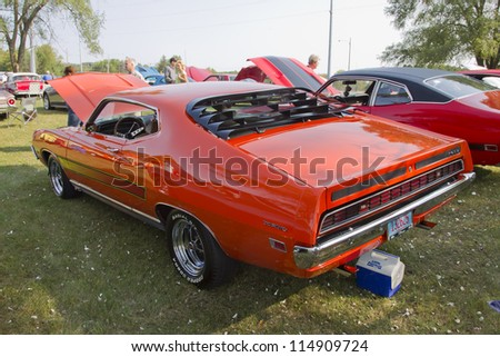 marion wi september 16 1971 ford torino car at the 3rd annual not