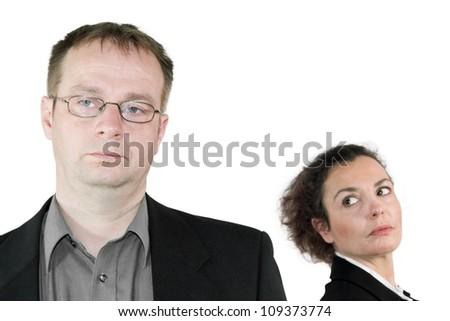 marital dispute - stock photo