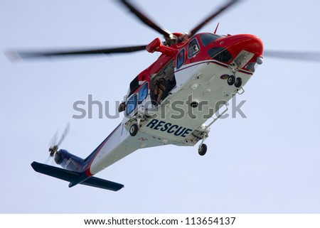 Maritime rescue helicopter.
