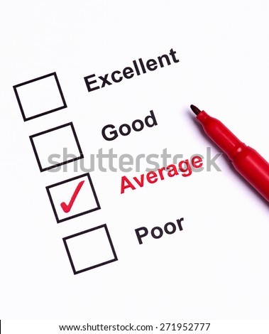 Mark Average on performance  evaluation