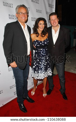 Mark Badgley with Teri Hatcher and James Mischka at a party to celebrate Badgley Mischka's New Campaign Featuring Teri Hatcher. One Sunset Restaurant, West Hollywood, CA. 08-27-07