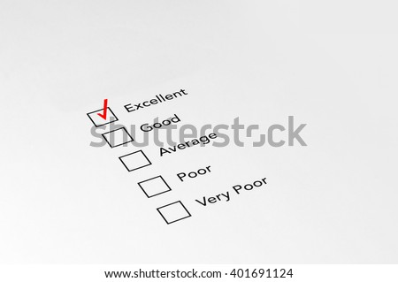 Mark Excellent on performance evaluation - Business Concept - stock photo