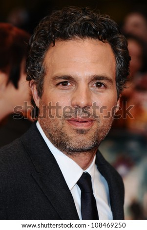 """Mark Ruffalo arrives for the """"Avengers Assemble"""" premiere at the Vue cinema Westfield, London. 19/04/2012 Picture by: Steve Vas / Featureflash - stock photo"""