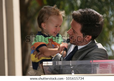 Mark Wahlberg and son Brendan at Mark Wahlberg's Star Ceremony on the Hollywood Walk Of Fame, Hollywood, CA. 07-29-10 - stock photo