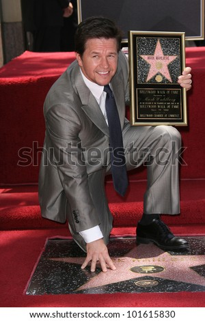 Mark Wahlberg at Mark Wahlberg's Star Ceremony on the Hollywood Walk Of Fame, Hollywood, CA. 07-29-10 - stock photo