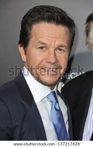 """Mark Wahlberg at the Los Angeles premiere of his movie """"Pain & Gain"""" at the Chinese Theatre, Hollywood. April 22, 2013  Los Angeles, CA  - stock photo"""