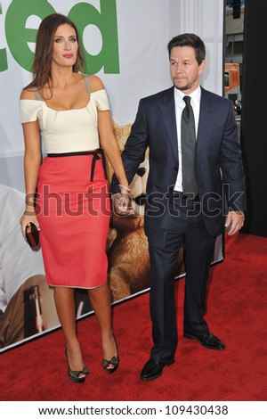 "Mark Wahlberg & wife Rhea Durham at the world premiere of his movie ""Ted"" at Grauman's Chinese Theatre, Hollywood. June 22, 2012  Los Angeles, CA Picture: Paul Smith / Featureflash"