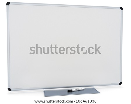 Marker White board, room for text or copy space on a white background - stock photo