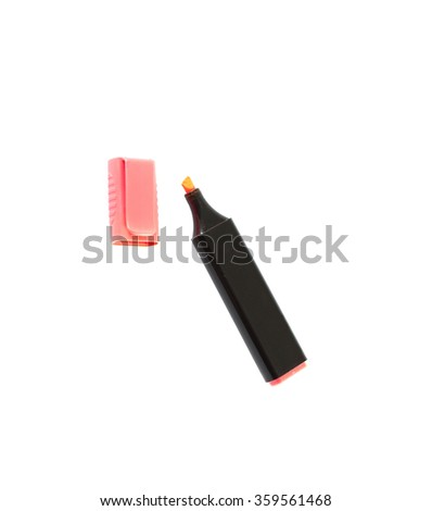 markers pens isolated on white background - stock photo