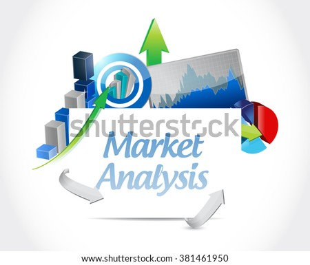 market analysis business graphs sign concept illustration design graphic - stock photo