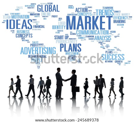 Market Business Global Business Marketing Commerce Concept - stock photo