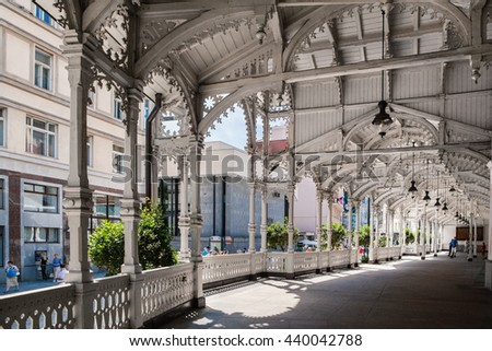 Market Colonnade,Czech republic - stock photo