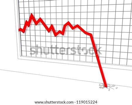 market crash - stock photo