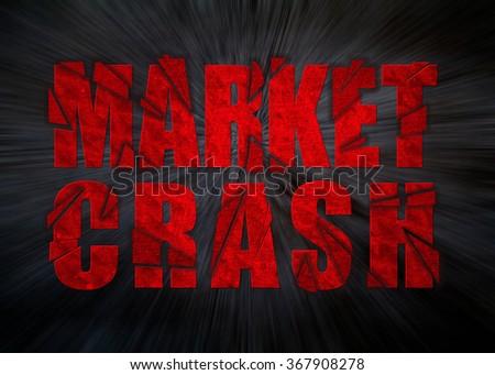 Market Crash Economic Crisis - stock photo