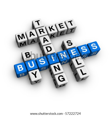 market crossword (blue-white cubes crossword series)