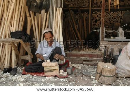 Market in Kashgar. China - stock photo