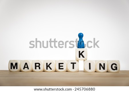 Market king concept: King pawn on the word  - stock photo