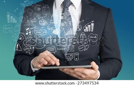 Market, marketing, news. - stock photo