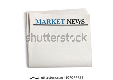 Market News, Newspaper with white background