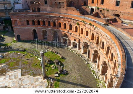 Market of Trajan in Rome, Italy - stock photo