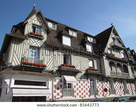 Market place , Deauville - stock photo