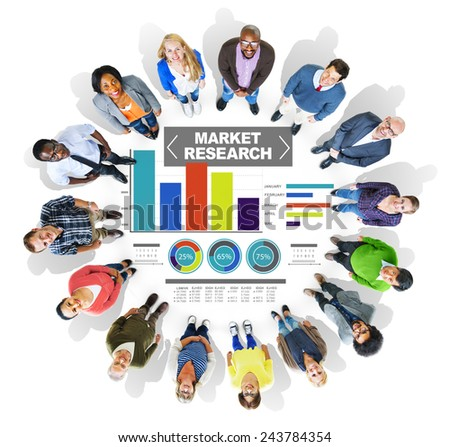 Market Research Business Percentage Research Marketing Strategy Concept - stock photo