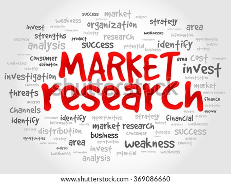 Market research word cloud, business concept - stock photo