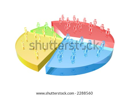 Market Share - stock photo