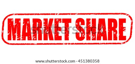 market share stamp on white background - stock photo
