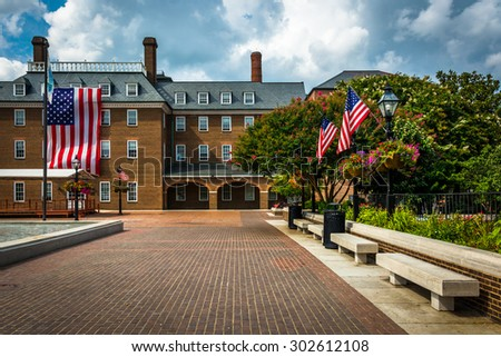 Market Square and City Hall, in Alexandria, Virginia.