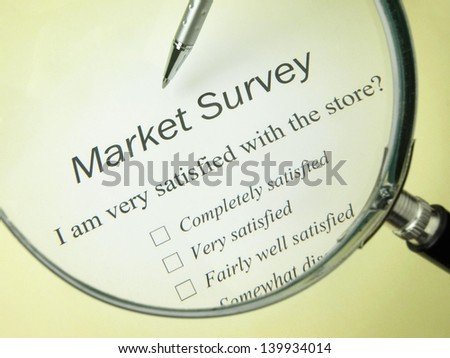 Market Survey - stock photo