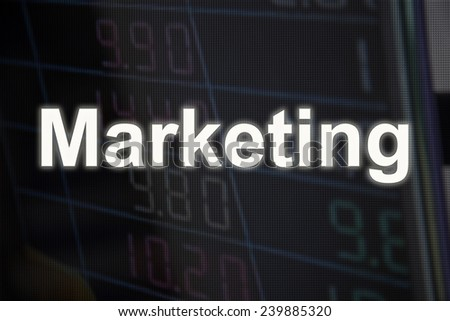 Marketing, Business charts and markets on display - stock photo