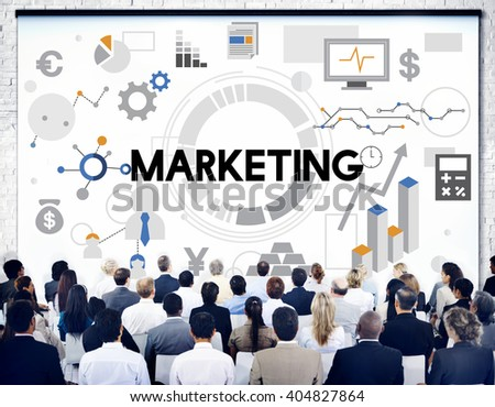 Marketing Business Commercial Strategy Concept - stock photo