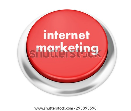 Marketing button on isolate white background