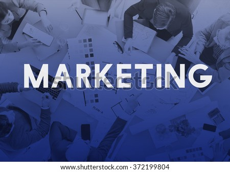 Marketing Commercial Advertising Plan Concept - stock photo