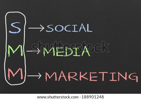 Marketing Concept Handwritten with Chalk on a Blackboard - stock photo