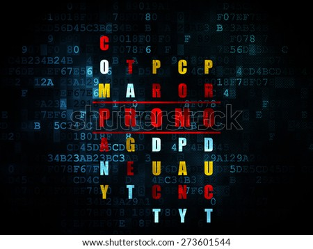 Marketing concept: Pixelated red word Promo in solving Crossword Puzzle on Digital background, 3d render - stock photo