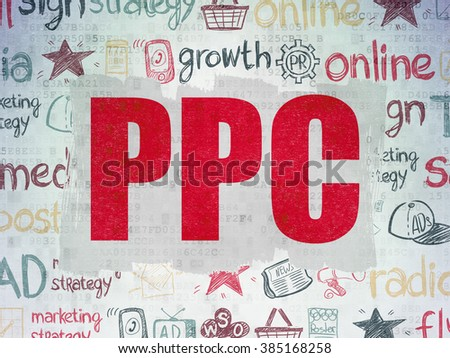 Marketing concept: PPC on Digital Paper background - stock photo
